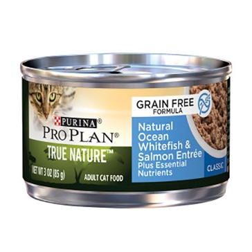 Purina Pro Plan True Nature GF Adult Ocean Whitefish & Salmon Entrée Wet Cat Food 3oz