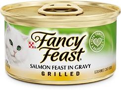 Fancy Feast Grilled Salmon Feast in Gravy 3oz.