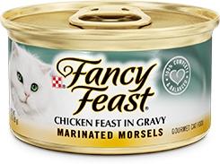 Fancy Feast Marinated Morsels Chicken Feast in Gravy 3oz.