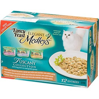 Fancy Feast Cat Food 12 Pack Elegant Medley's Tuscany Variety Pack