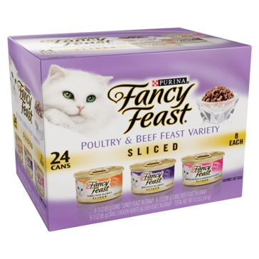 Fancy Feast Cat Food 24 Pack Poultry/ Beef Pate Variety Pack