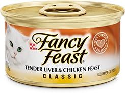 Fancy Feast Classic Tender Liver & Chicken Feast 3oz.