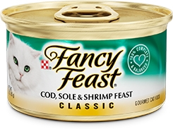 Fancy Feast Classic Cod, Sole, & Shrimp Feast 3oz.
