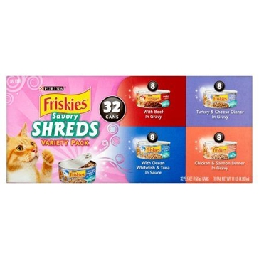 Friskies Savory Shreds Variety Pack Canned Cat Food- 32 Ct.