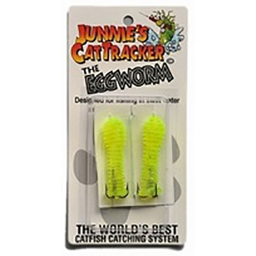 Junnie's Cattracker The Eggworm Chartreuse 2PK
