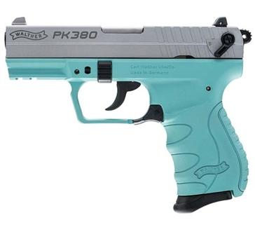 Walther PK380 Semi-Auto Compact .380ACP Pistol  Robin Egg Blue