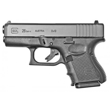 Glock 26 GEN 4 9mm Black Semi-Auto Pistol