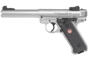 Ruger Mark IV .22LR Semi-Auto Stainless Steel Target Rimfire Pistol