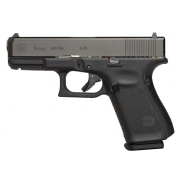 Glock 19 GEN 5 9mm Semi-Auto Compact Pistol Black