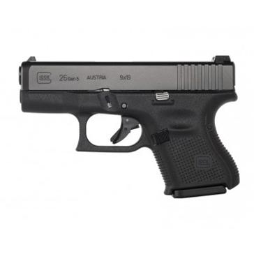 Glock 26 GEN 5 9mm Sub-Compact Semi-Auto Pistol Black