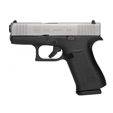 Glock 43X  Sub-Compact 9mm Pistol Silver Slide