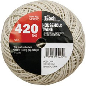 Koch Industries White HeavyTwisted Household Twine 420ft