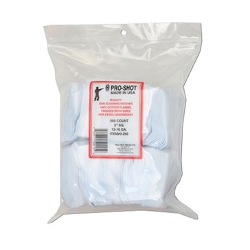 Pro-Shot Gun Cleaning Patches 250ct. 12-16 Gauge