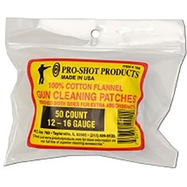 Pro-Shot Gun Cleaning Patches 50ct. 12-16 Ga.