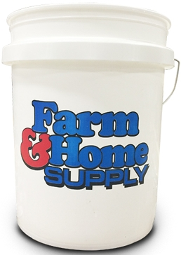 Farm & Home Logo 5-Gallon Bucket White