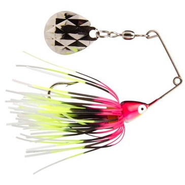 Strike King Mini-King 1/8 oz Spinner Bait Pink/Red/Black/White/Chartreuse Head/Skirt