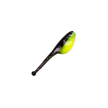 "Mr. Crappie ShadPole 2"" Tuxedo Black/Chartreuse Lure 15 Pack"