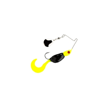 Mr. Crappie Spin Baby 1/8 oz Tuxedo Black/Chartreuse Spinner Bait