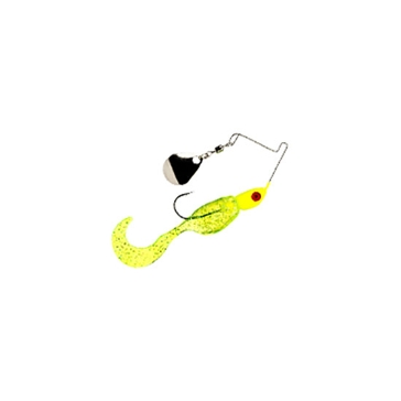 Mr. Crappie Spin Baby 1/8 oz Chartreuse Shiner Spinner Bait