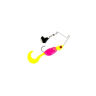 Mr. Crappie Spin Baby 1/8 oz Hot Chicken Spinner Bait