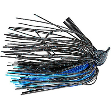 Strike King Premier Pro-Model Jig 3/8 oz Bleeding Black Blue Accent Lure