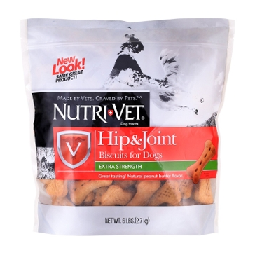 Nutri-Vet 1001061 Peanut Butter Extra Strength Hip & Joint Biscuits for Dogs