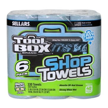 Sellars TOOLBOX Blue Shop Towel Rolls 6-Pack