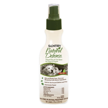 Sentry Natural Defense Flea & Tick Spray for Dogs & Puppies 8oz