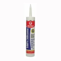 Red Devil 0816 Silicone Sealant, White, 10.1 fl-oz Cartridge