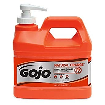 GOJO® NATURAL* ORANGE™ Pumice Hand Cleaner 1/2 Gallon Dispensing Pump 0958-04