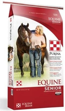 Purina Equine Senior Horse Feed 50lb