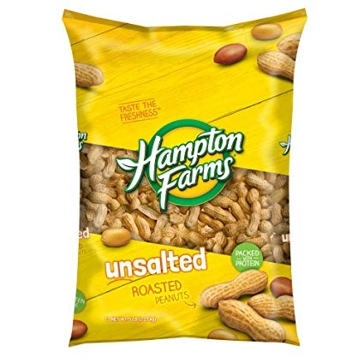 Hampton Farms Fancy Unsalted Shelled Peanuts 5lb Bag