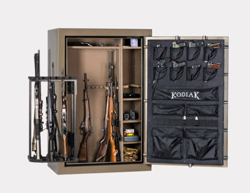 Safe contents pictured (eg: guns) not included with safe.