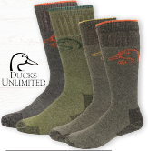 Ducks Unlimited  Socks - Green/ Black