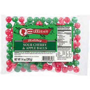 Eillien's Red & Green Sour Balls 16 oz. bag