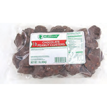 Eillien's Chocolate Covered Peanut Clusters 1 lb bag