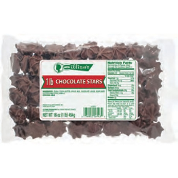 Eillien's Chocolate Stars 1 lb bag