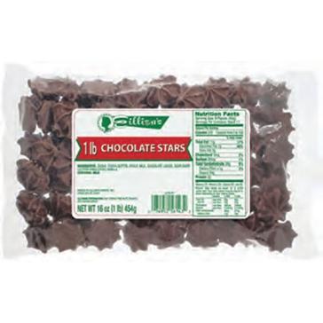 Eillien's Chocolate Stars 1 lb bag