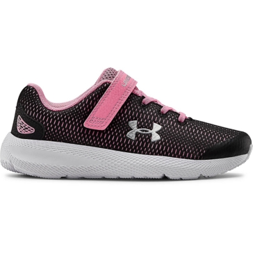 Girl's Under Armour Charged Pursuit 2 Black/Pink - 3022861-002