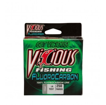 Vicious Fluorocarbon 4lb Fishing Line 250 Yard Spool