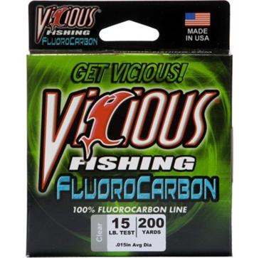 Vicious Fluorocarbon 15lb Fishing Line 200 Yard Spool