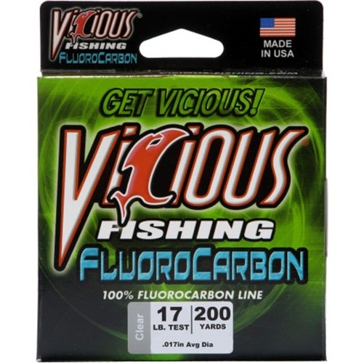 Vicious Fluorocarbon 17lb Fishing Line 250 Yard Spool
