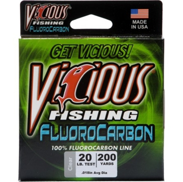 Vicious Fluorocarbon 20lb Fishing Line 200 Yard Spool