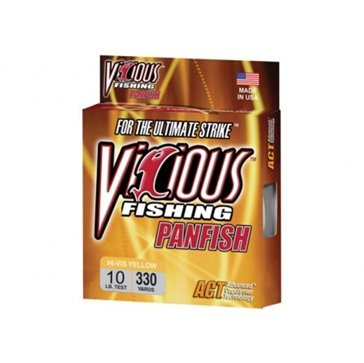 Vicious Panfish 10lb Hi-Vis Fishing Line 330 Yard Spool