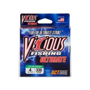 Vicious Ultimate 4lb Lo-Vis Fishing Line 330 Yard Spool
