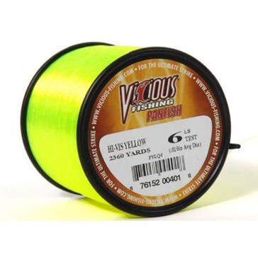 Vicious Panfish 6lb Hi-Vis Fishing Line 2360 Yard Spool