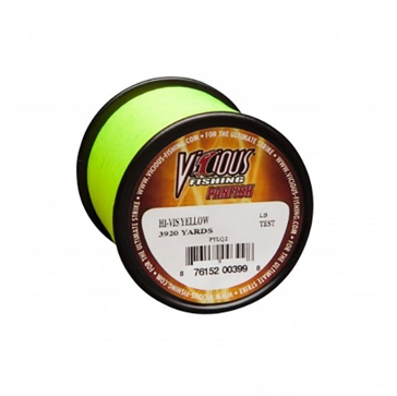 Vicious Panfish 8lb Lo-Vis Fishing Line 1700 Yard Spool