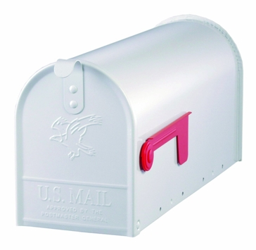 Solar Group Large White Post Mailbox E1100W00