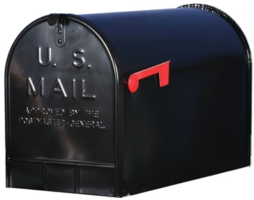 Solar Group Jumbo Black Post Mailbox ST200B00