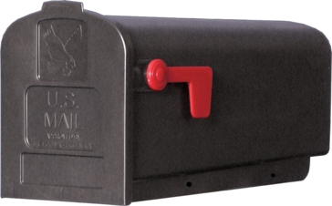Solar Group Black Plastic Mailbox PL10B0201